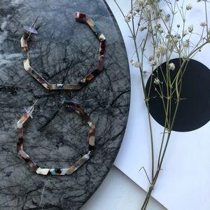 Geometric Resin Hoop Earrings